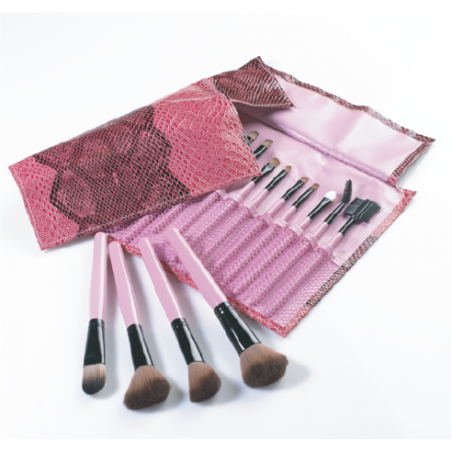 'Pink-Snake-Skin' Make-up Brush Roll